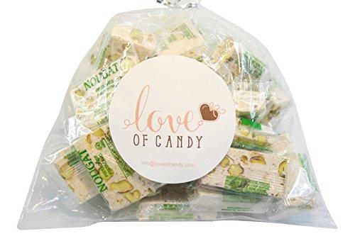 Pistachio Nougat - Love of Candy Bulk Candy - Pistachio Nougat - 1lb Bag