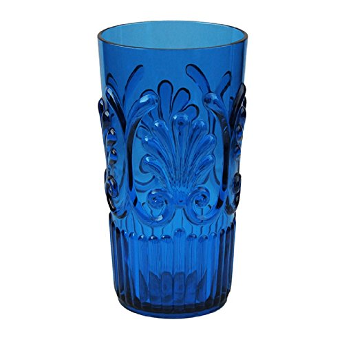 Le Cadeaux Fleur 21 oz Ice Tea Glass, Blue ()