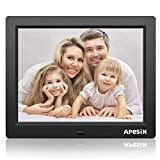 Digital Picture Frame, APESIN 8 Inch 1024x768 Pixels HD Screen(Black)