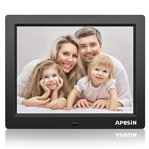 Digital Picture Frame, APESIN 8 Inch 1024×768 Pixels HD Screen(Black)
