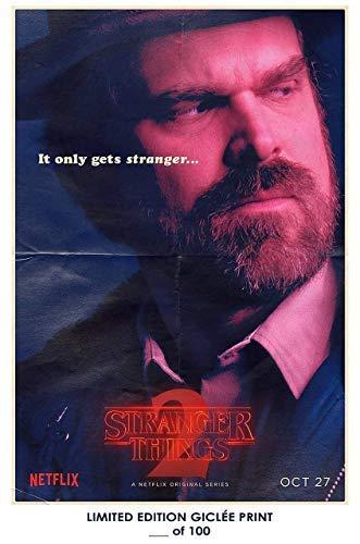 Two Hopper (Lost Posters Rare Poster Thick Jim Hopper Stranger Things 2 David Harbour tv Reprint #'d/100!! 12x18)