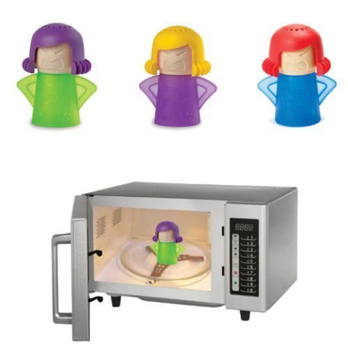 Microwave Cleaner New Metro Angry Mama Microwave Oven Fast Action Steam Cleaner Kitchen Gadget Tool, Random Color, 1 pcs