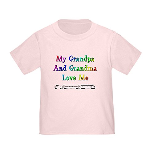 CafePress Grandpa and Grandma Love Me Cute Toddler T-Shirt, 100% Cotton Pink