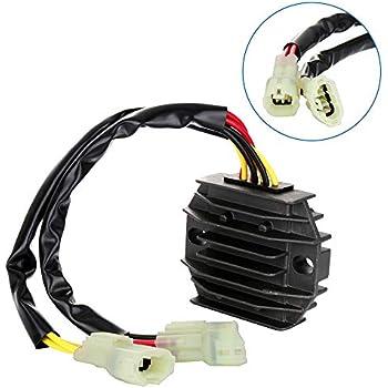 Tuzliufi Replace Voltage Regulator Rectifier Polaris Outlaw 450 500 525 Predator 500 Suzuki LTF 500 F Quadrunner LTA 500 F Quadmaster 32800-44D20 32800-44D21 32800-44D30 4010654 4012536 New Z166