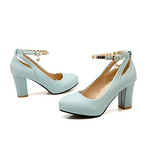 aiguilles à femmes bleues et Chaussures pour aiguilles VogueZone009 Chaussures talons solides à talons 5B88Zq
