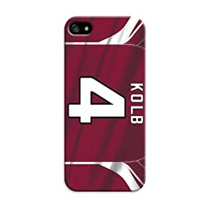 Customize Protective Case Arizona Cardinals Kolb 4 jerjey for iPhone 5/5S Case hjbrhga1544