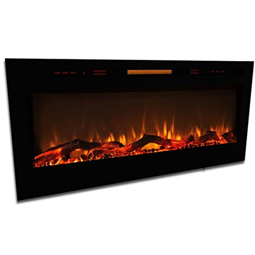 Elite Flame 50 Quot Fusion Log Built In Smokeless Wall Mounted