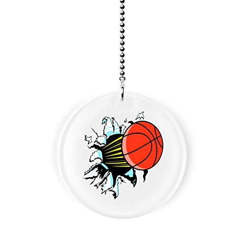 Gotham Decor Basketball Punch Out Fan/Light Pull