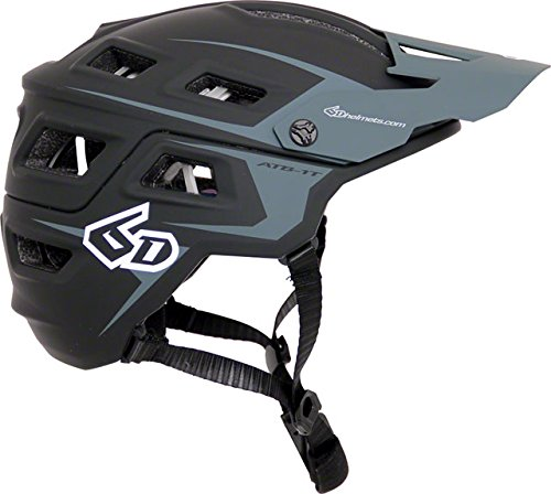 6d ATB-1T EVO Trail Bicycle Helmet-Black/Grey-M/L by 6d
