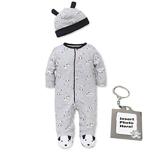 Little Me Dalmatian Dog Footed Sleep and Play Footie Sleeper Boys Pajamas Blue 6M