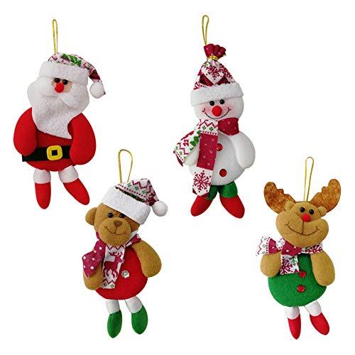 Christmas Ornaments Set Cute Santa Claus Tree Ornaments Creative Xmas Tree Hanging Decoration