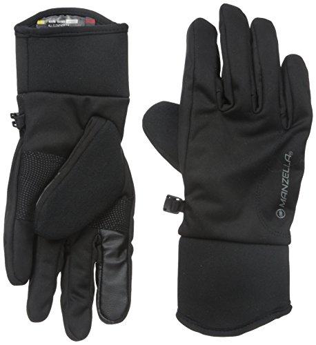 Manzella Women's All Elements 3.0 Touch Tip Gloves, Black, (Manzella Ski)