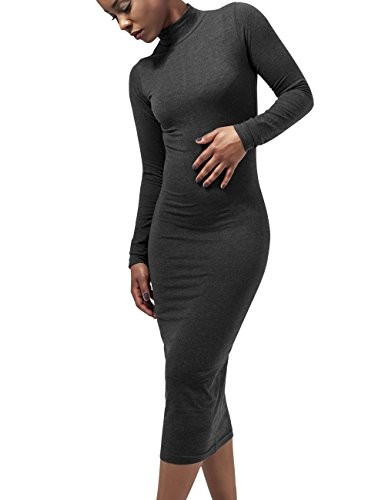 Vestito Vestito Vestito Turtleneck Charcoal Urban Dress Dress Dress Donna S L Classics Ladies Grigio Ywq1E