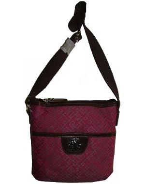 Women's/Girl's XBody Handbag, Small, Rose/Gray Alpaca/Brown
