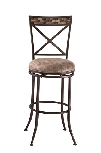 (Hillsdale Furniture 5594-830F Compton Swivel Bar Stool, Brown )