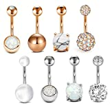 Anicina 14G Belly Button Rings Surgical Stainless