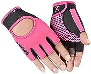 Biking Gloves Kids Boys Girls Cycling Exercise Gloves Half Finger Fingerless Gloves Child Motor Bike Riding An