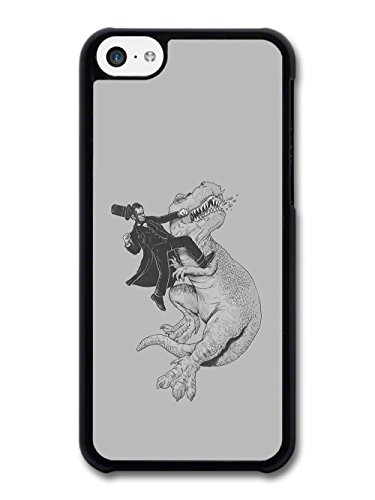 Lincoln and T Rex Hand Drawn Illustration Funny Cool case for iPhone 5C