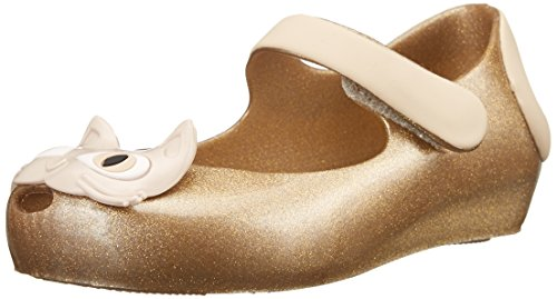 Mini Melissa Ultragirl II Mary Jane Flat (Toddler), Gold Glitter, 5 M US Toddler