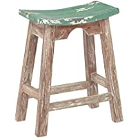 OSP Designs 24 Saddle Stool, Rustic Green
