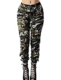 Women Pants, High Waist Camouflage Pants Loose Trousers
