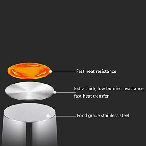 Grande Marmite, légumes Pot, professionnel Induction-Safe en acier inoxydable Marmite avec couvercle, trois tailles (Taille: 45 * 46cm (72L)) KaiKai (Size : 45 * 46cm(72L))