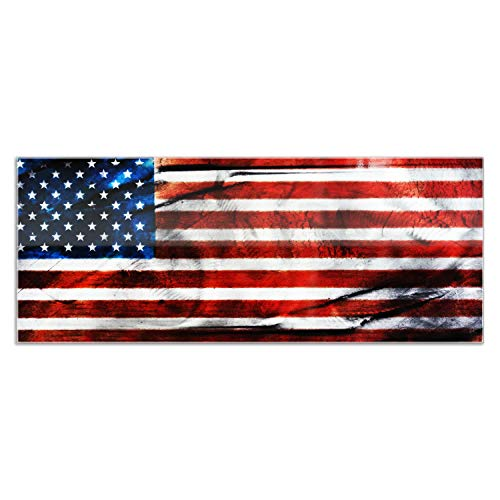 Plaque Metal Artistic - Metal Art Studio 'American Glory' Urban American Flag Wall Art