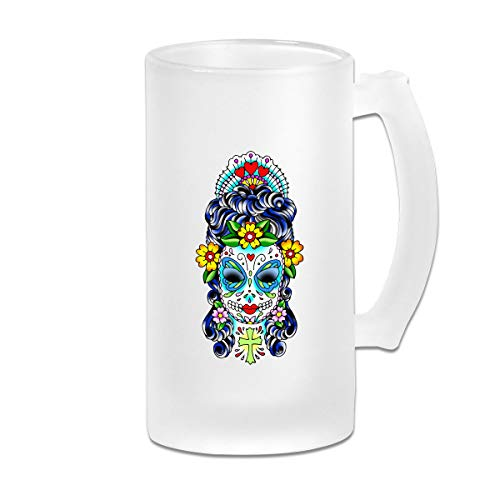 Frosted Beer Mug, Free Sugar Skull Clipart Personalized Stein ()