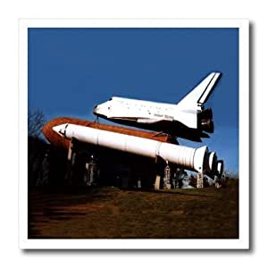 ht_553_1 Space - Space Shuttle - Iron on Heat Transfers - 8x8 Iron on Heat Transfer for White Material