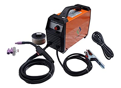 MIG Welder 120 Amp 220V DC Portable Mini Inverter Mig Welding Machine Orange With Mig Torch Earth Clamp