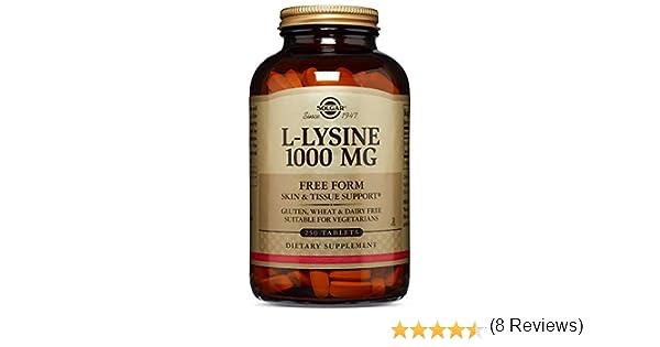 Solgar L-Lisina Comprimidos de 1000 mg - Envase de 250: Amazon.es ...