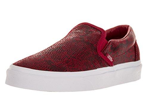 Vans Unisex Classic Slip-On (Pebble Snake) Chili Pepper Sneaker Mens 7, Womens 8.5 Medium