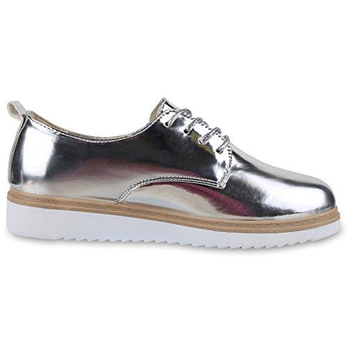 napoli-fashion - Zapatos de vestir brogues Mujer Silber Silber