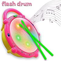 Zuffon Kid's Flash Drum with 3D Lights and Musical Toys (2 Year)