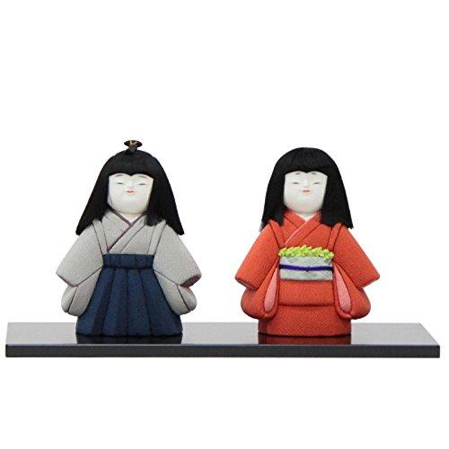 雛人形 アウトレット品 木目込み市松人形 二人 幅39.5cm 18ya1284 台付き   B07518CNMD
