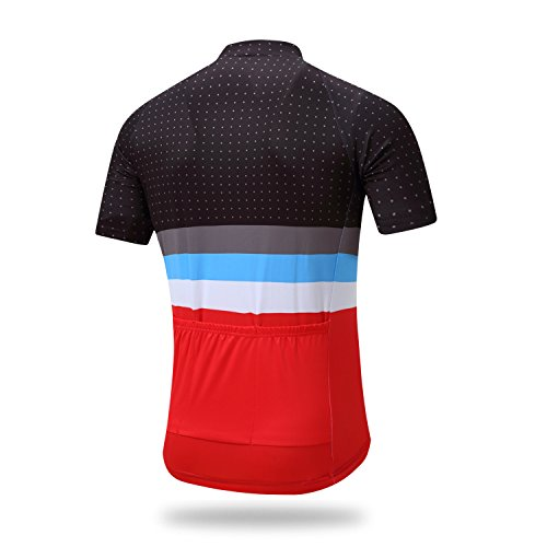 Coconut Men's Cycling Jersey Short Sleeve Road Bike Biking Shirt Bicycle Clothes (Red/Black, 3XL) by Coconut Ropamo (Image #1)