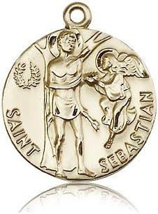 14ktゴールド聖セバスチャンメダル