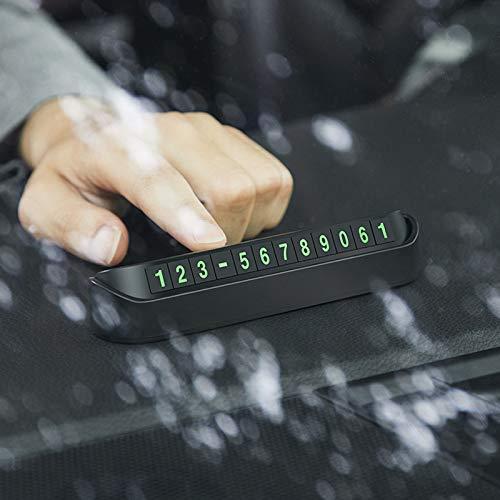 Small-Chipinc - Car Styling Temporary Parking Card Phone Number Card Plate For Mercedes Benz W202 W220 W204 W203 W210 W124 W211 W222 X204 AMG