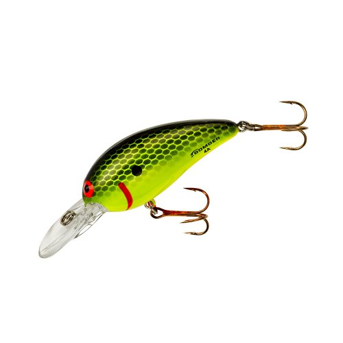 Bomber Model A Fishing Lure (Black Chartreuse, 2 5/8-Inch) (Floating Bomber)