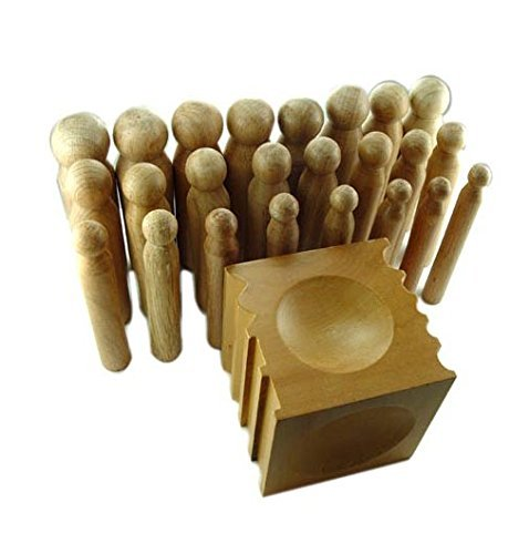 Mazbot 25 Piece Wood Dapping Doming Punch and Block Set by Mazbot