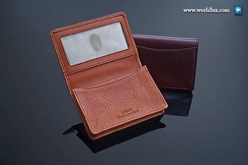 Bosca Men's Old Leather 2 Pocket Card Case with I.D.,Dark Brown,US