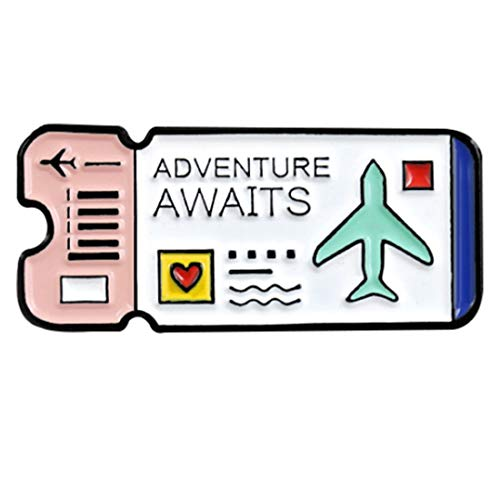 Enamel Womens Pins - Flairs New York Premium Handmade Enamel Lapel Pin Brooch Badge (Adventure Awaits, 1 Pin)