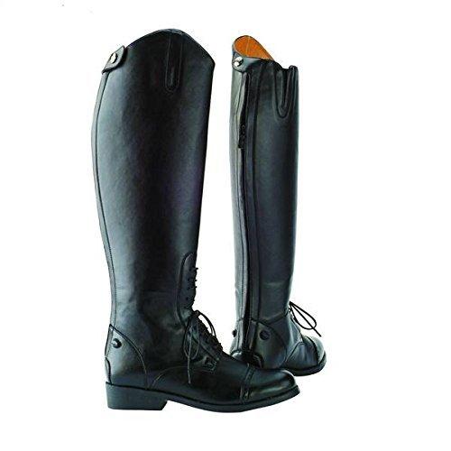 D'quitation En Hautes De Bottes Laced Zip Dressage Saxon Similicuir Noir Chaussures SYwqa