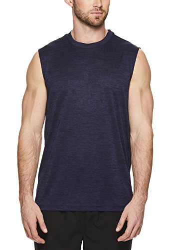 HEAD Mens Space Dye Heather Gym Training & Workout Muscle Tank - Sleeveless Activewear Top