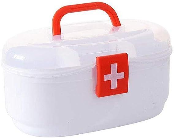 TZSMYX Botiquín Botiquín de Primeros Auxilios, Cofre de Medicina Familiar, Estuche de medicamentos de plástico para el hogar, Caja de Almacenamiento, Botiquín, Kit de Emergencia TYTZSM (Color : Red): Amazon.es: Hogar