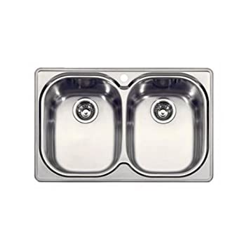 franke cpx620 compact double bowl drop in kitchen sink in stainless. Interior Design Ideas. Home Design Ideas