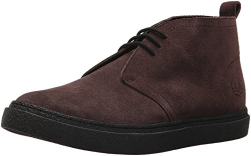 Fred Perry Men's Hawley Mid Suede Sneaker, Dark Chocolate, 9 D UK (10 US)