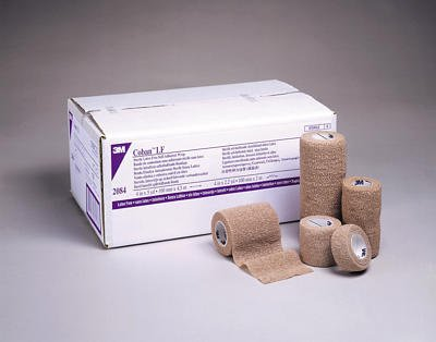 3M™ Coban™ LF Latex Free Self-Adherent Wrap with Hand Tear, 1 in. x 5 yd./25 mm x 4,5 m, Tan, 6 rolls/case
