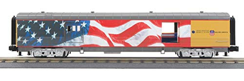 Streamlined Car Baggage - MTH RailKing Union Pacific Flag 60' Streamlined Baggage Passenger Car O Guage 30-68127