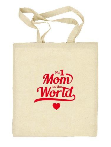 Shirtstreet24, Muttertag - No. 1 Mom, Mutter Natur Stoffbeutel Jute Tasche (ONE SIZE) Natur